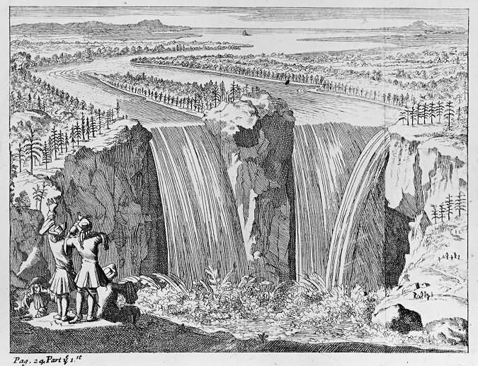 1678 c A Facsimilie View of Niagara Falls low res