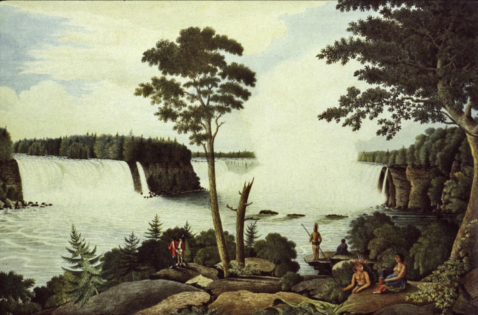 1766 c Niagara Falls from Below - low res