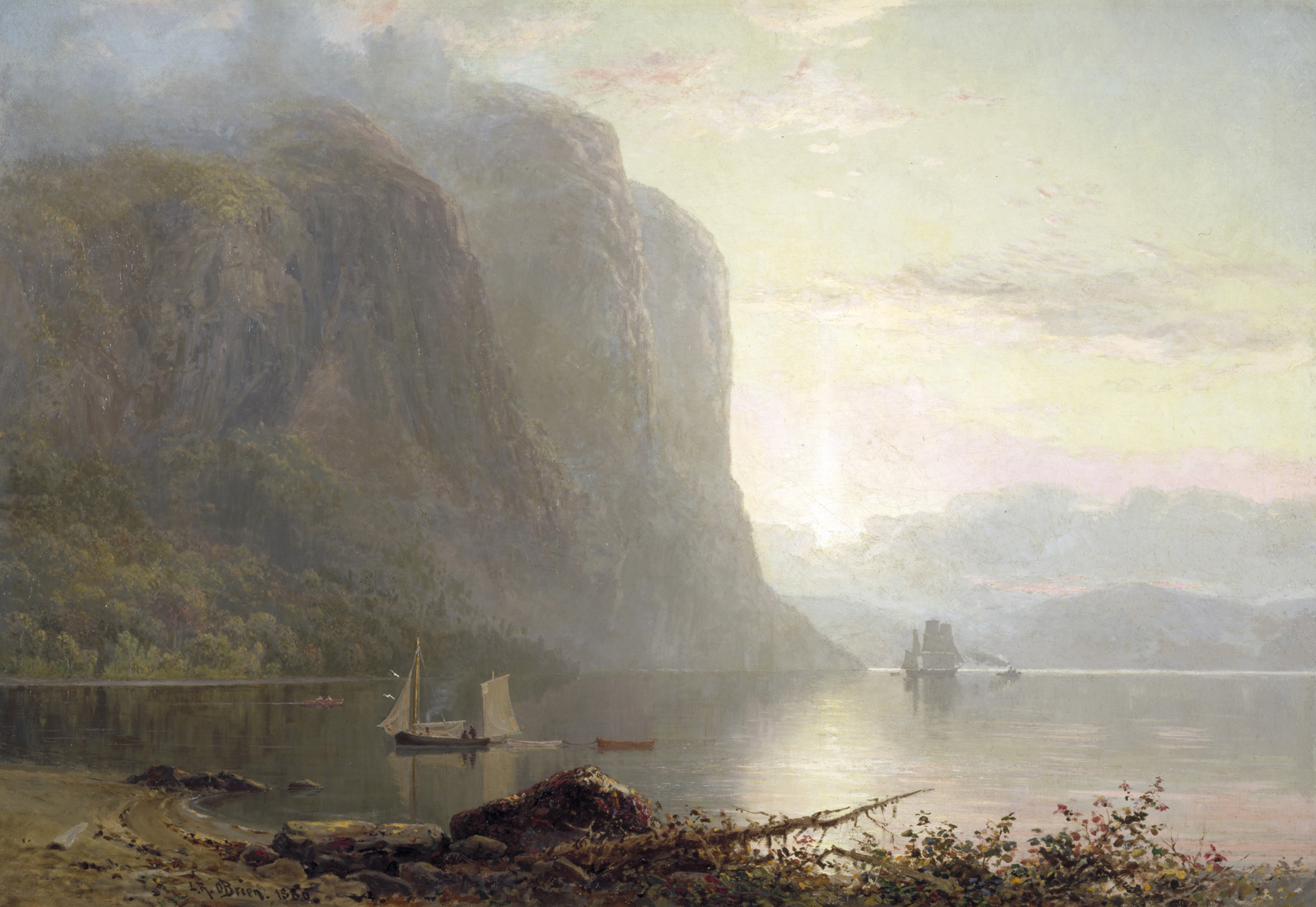1880 Sunrise on the Saguenay Cape Trinity low res