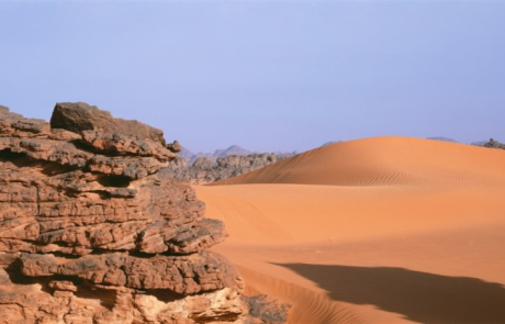 2003 Roberta Bondar Acacus rock with dunes