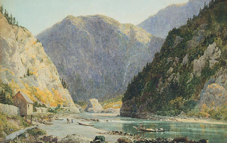 Lucius O'Brien - 1888 The Gate of the Canyon Fraser River