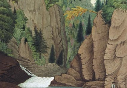 Davies Thomas 1790 A View of the Lower Part of the Falls of St Anne near Quebec