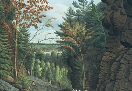 Davies Thomas 1792 View on the River La Puce near Quebec